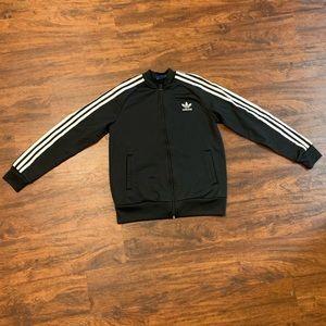 Adidas kids black bomber jacket